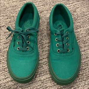 Vans era gold mono green